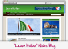 Thumbnail Learn Italian Niche Blog - Highly Optimized WP Blogs