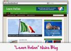 Thumbnail Learn Italian Niche Blog - Highly Optimized WP Blogs