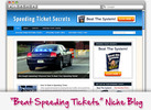 Thumbnail Speeding Ticket Secrets Niche Blog - Highly Optimized WP Blogs