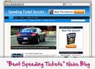 Thumbnail Speeding Ticket Secrets Niche Blog - Highly Optimized WP Blogs