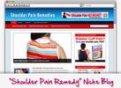 Thumbnail Shoulder Pain Remedies Niche Blog - Highly Optimized WP Blogs