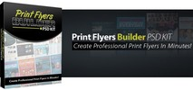 Thumbnail Print Flyers Builder PSD Kit - Developer License