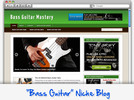 Thumbnail Bass Guitar Niche Blog - Highly Optimized WP Blogs