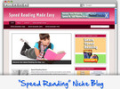 Thumbnail Speed Reading Niche Blog - Highly Optimized WP Blogs