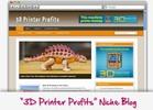 Thumbnail 3D Printer Profits Niche Blog