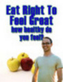Thumbnail Eat Right To Feel Great Master Resale Rights Included!