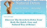 Thumbnail Natural Detox - How to Detox Naturally  Minisite and Ebook (PLR/RR)