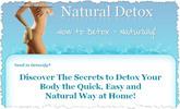 Thumbnail Natural Detox - How to Detox Naturally  Minisite and Ebook (PLR/RR)