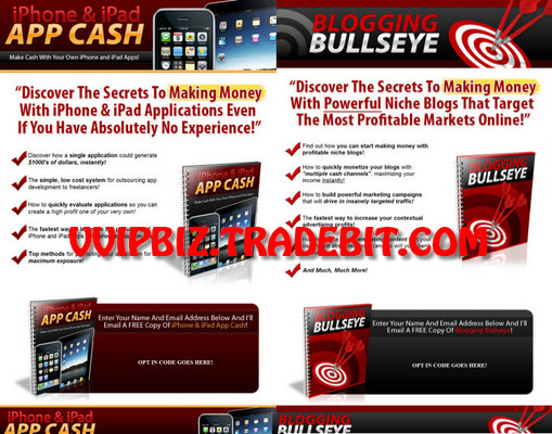 Pay for (2 New PLR) iPhone & iPad APP CASH + Blogging Bullseye +  Professional Squeeze Pages