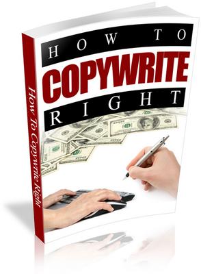 Pay for How to Copywrite Right (Copywriting) PLR Ebook
