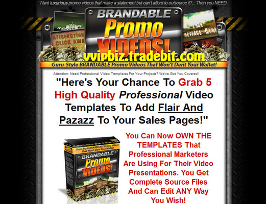 Pay for Brandable Promo Videos - Professional Video Templates Complete Source Files PLR RR