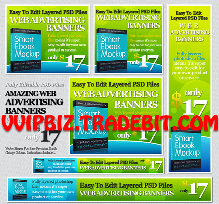 Pay for 24 Effective Web Advertising Banners Templates PSD Included
