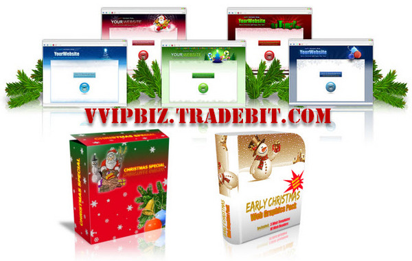 Pay for Holiday Special More Christmas Graphics and Template Pack!
