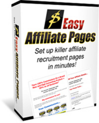 Pay for Easy Affiliate Pages - Set Up Killer Affiliate Recruitment Pages In Minutes!