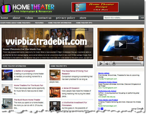 Pay for Home Theater Niche Wordpress Blogs + Review Sites (3 Income Streams)