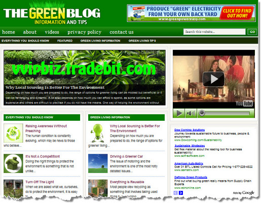 Pay for Green Living Niche Wordpress Blogs PLR Website with Reviews Site