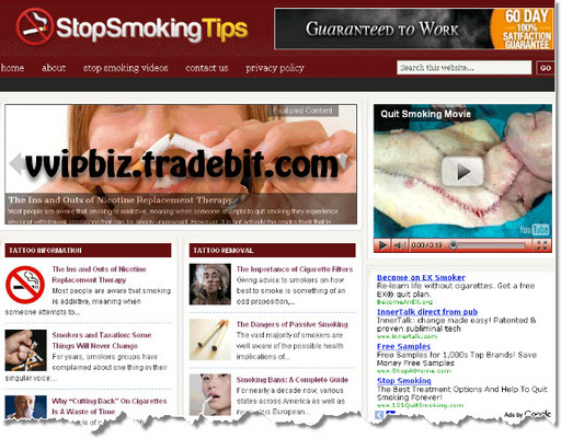 Pay for Stop Smoking Niche Wordpress Blogs + Review Sites (3 Income Streams)