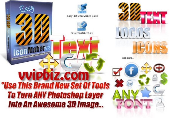 Pay for Easy Icon Maker V2: Create an Awesome 3D Image in 3 Simple Steps....