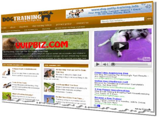 Dog Training Niche Wordpress Blogs (Adsense/Amazon/Clickbank) + Review Sites