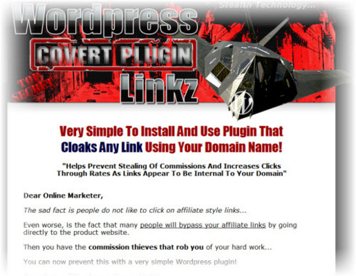 Pay for Wordpress Stealth Covert Linkz Cloaking Plugin: Cloaks Any Links