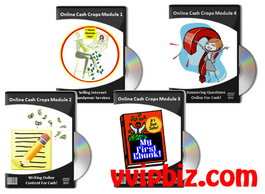 Pay for Online Cash Crops: Make Quick Cash Online Video + eBook
