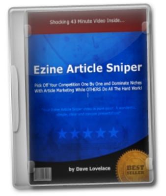 Pay for  Ezine Article Sniper Video Course - Niche Domination Secrets