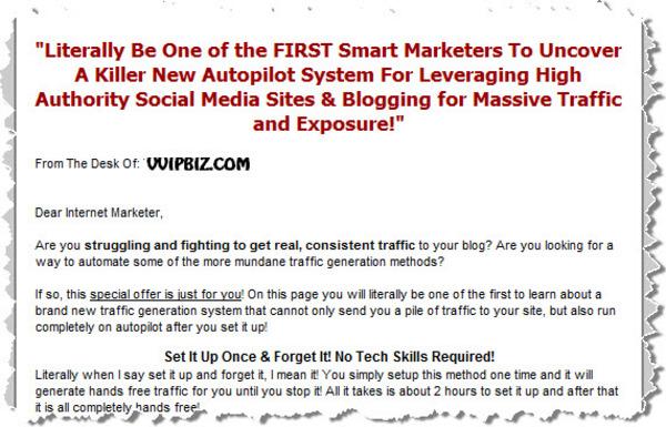 Pay for Secret Viral Blog Traffic System Video Series