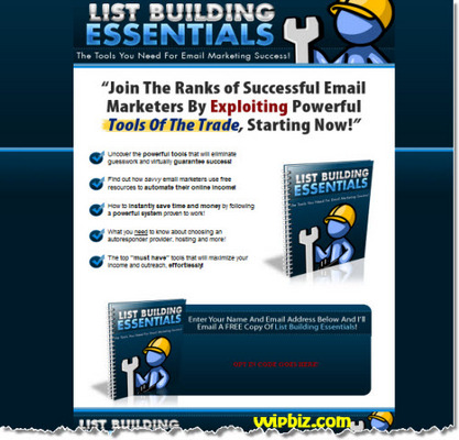 Pay for List Building Essentials Squeeze Page Template + PLR Report