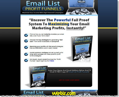Pay for Email List Profit Funnels (Viral PLR) + Squeeze Page Template