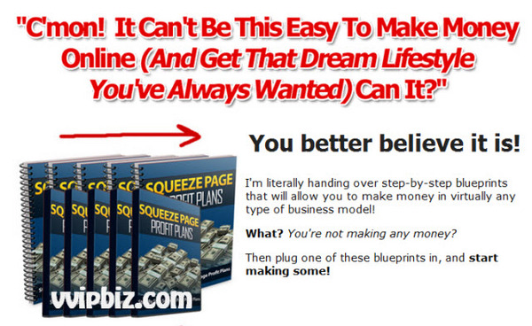 Pay for Squeeze Page Profit Plans eBooks and Videos - Resell Rights Included