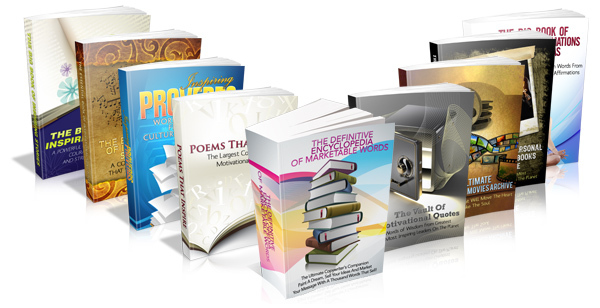 Pay for Inspirational Words Series Motivational Ebook Package with MRR