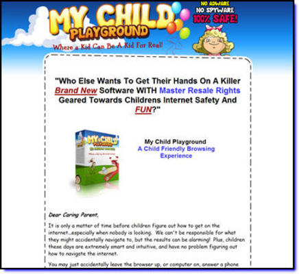 Pay for My Child Playground Kid Friendly Browsing (MRR)