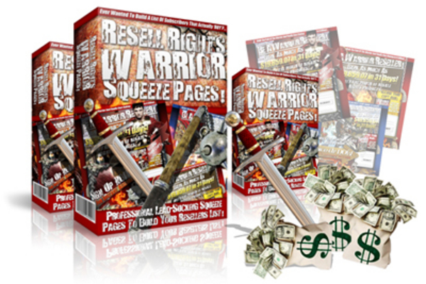 Pay for Resell Rights Warrior Package Squeeze Page Templates MRR