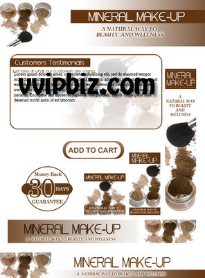 Pay for Mineral Makeup PLR Minisite Graphics