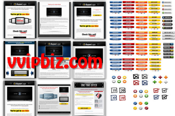 Pay for Marketing Funnel Pack Professionally Designed Graphics Templates.