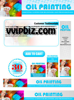 Pay for Oil Painting Minisite with Psd Template Plr Pack