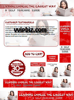 Pay for Learn Chinese Minisite with PSD Template Plr Pack