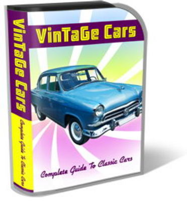 Pay for Vintage Cars Mini Site Templates PLR Pack
