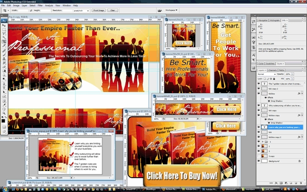 Pay for Pay A Professional Outsourcing Minisite Template PSD Graphics