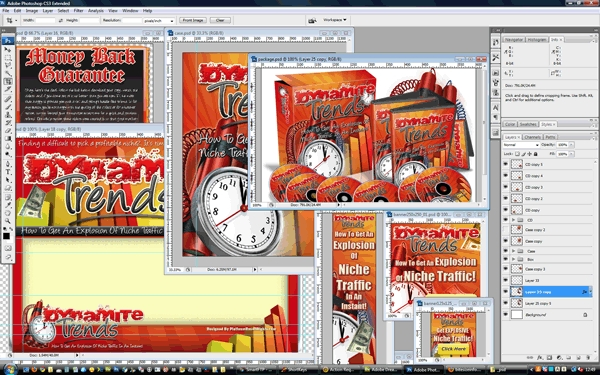 Pay for Dynamite Trends Minisite Template PSD graphics