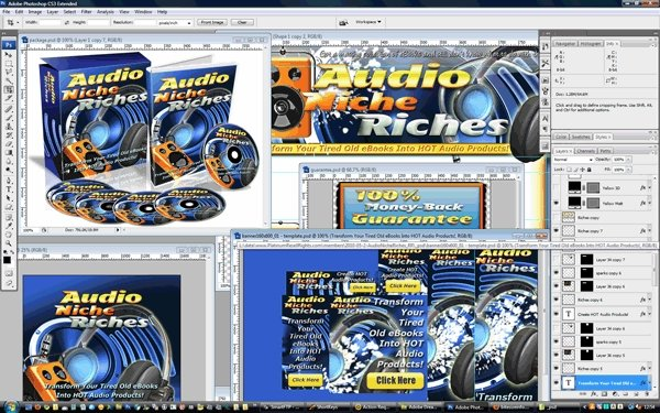 Pay for Music Audio Niche Riches Minisite Template PSD graphics