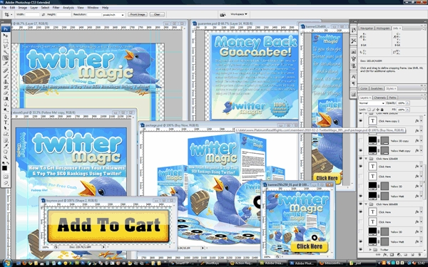 Pay for Twitter Magic Traffic Minisite Template PSD graphics