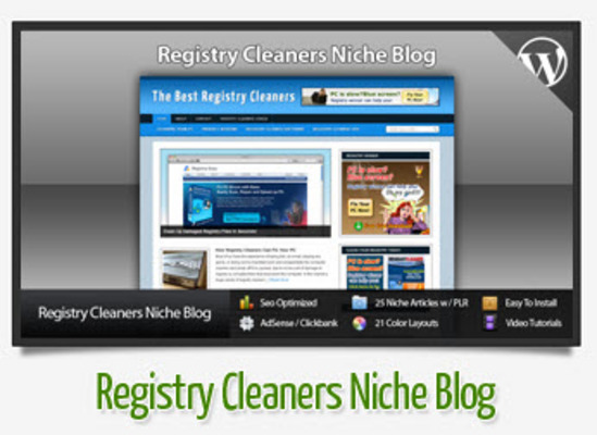 Pay for Registry Cleaners Niche Blog With Instructional Videos