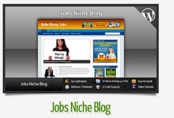 Pay for Jobs Niche Blog With Instructional Videos