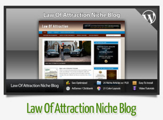 Pay for  Law Of Attraction Niche Blog With Instructional Videos