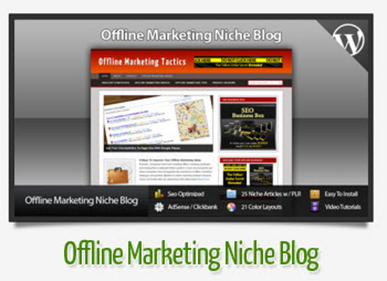Pay for Offline Marketing Niche Blog With Instructional Videos