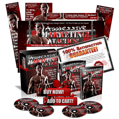 Pay for Aggressive Marketing Tactics Minisite Web Template MRR