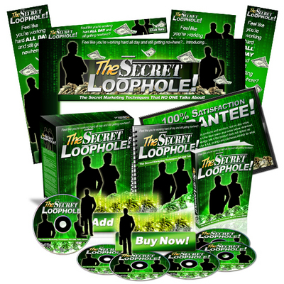 Pay for Secret Loophole Mini Site Web Template MRR