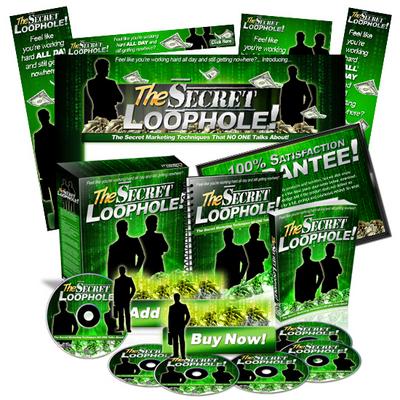 Pay for Secret Loophole Mini Site Web Template MRR