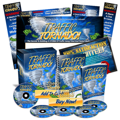 Pay for Traffic Tornado Minisite Web Templates PSD Graphics